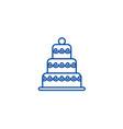 big wedding cake line icon concept big wedding vector image vector image