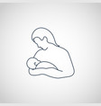 breastfeeding mom and her newborn baby child icon vector image vector image