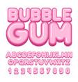 bubble gum font vector image