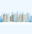 buildings and skyscrapers background panorama vector image vector image