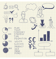 business ink doodles vector image