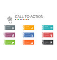 call to action infographic 10 option line concept vector image