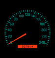 car speedometer dial vector image