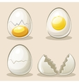 cartoon eggs in elements vector image vector image