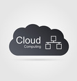 Cloud computing concept Modern design template vector image vector image