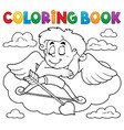 coloring book cupid topic 7 vector image vector image