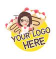 crepe logo vector image vector image