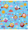 cute animals in helicopters kids seamless pattern vector image vector image