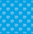 diving mask pattern seamless blue vector image vector image