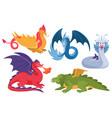 dragon set cartoon asian vector image