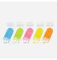 Five step Timeline Infographic Colorful comet vector image vector image