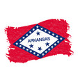 flag of arkansas grunge abstract brush stroke vector image vector image