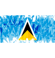 Flag of Saint Lucia vector image vector image