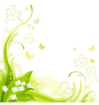 Floral summer background with white lily of the vector image vector image