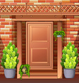 Front door of a house vector image vector image