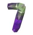 geometric crystal digit 7 vector image vector image