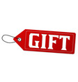 gift label or price tag vector image