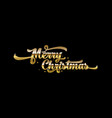 golden text on black background merry christmas vector image vector image