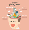 head full of dreams infographic vector image vector image