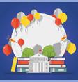 high school graduation party celebration vector image