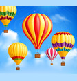 hot air balloons background vector image vector image