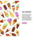 ice cream summer cafe poster vector image vector image