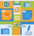 image files formats banner vector image