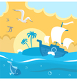 Island in the ocean vector image