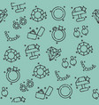 jeweler icons pattern vector image vector image