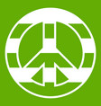 lgbt peace sign icon green vector image vector image