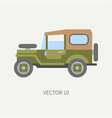 line tile color hunt and camping icon off vector image vector image