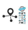 Locations Flat Icon with Bonus vector image vector image