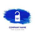 lock icon - blue watercolor background vector image
