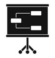 management banner icon simple style vector image