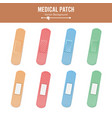 medical patch two sides adhesive vector image vector image