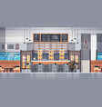 modern cafe or restaurant interior with bar vector image
