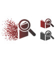 moving pixelated halftone search book icon vector image