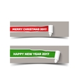 New Year colors poster templat vector image vector image