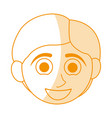 orange silhouette shading caricature front face vector image vector image