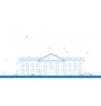 Outline White House Washington DC vector image