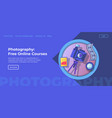 photography free online courses website page vector image