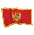 political waving flag of montenegro vector image vector image