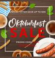 promo background for oktoberfest sale vector image vector image