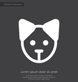 puppy premium icon white on dark background vector image vector image
