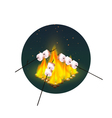 Roasting Of Marshmallows On Bonfire vector image vector image