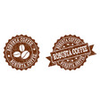 robusta coffee stamp seals with grunge texture in vector image vector image