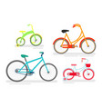 set of bicycles bike cycling vector image