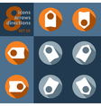 set of eight icons with arrows vector image
