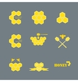 set of logos for honey products vector image vector image
