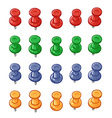 Set of push pins vector image vector image